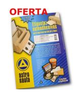ETIQUETAS ASTRONAUTA A4 N*8016 70x36mm.-PAQ.x100hj.2400un.