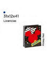 BOLSA ARTESANAL CARTULINA MICKEY RED 31x12x41cm.