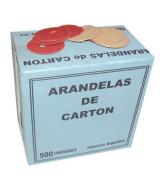 ARANDELAS DE CARTON P/EXPEDIENTES - CAJAx500un.