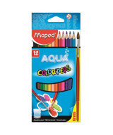 LAPICES DE COLOR MAPED C.PEPS AQUA CAJAx12un.+PINCEL- 836011