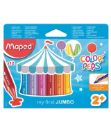 CRAYONES CERA MAPED COLOR PEPS JUMBO x12 861311
