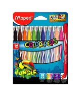 MARCADORES MAPED COLOR PEPS  JUNGLE CAJAx12 - 845420