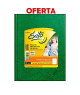 CUADERNO EXITO FORR.T/D.16x21cm.VERDE 100hj.CUAD.-101005