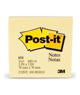 BLOCK DE NOTAS POST-IT 654 - 76,2x76,2mm.- 52199