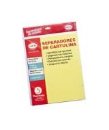 SEPARAD.DE CARTULINA 5 POS.CARTA AMARILLO - C5743