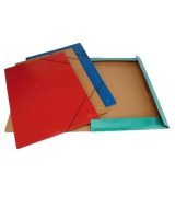 CARPETA 3 SOL.y ELAST.KRAFT MARRON 35x50cm.- C6635