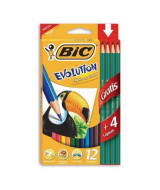 LAPICES DE COLOR BIC EVOLUTION LARGOS - CAJAx12un.- 936403/9