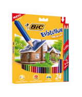 LAPICES DE COLOR BIC EVOLUTION LARGOS - CAJAx24un.- 936406