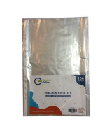FOLIOS GENERAL OFFICE POLIP.CRISTAL OFICIO 40mic - PAQ.x100u