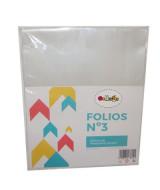 FOLIOS COLLEGE ESCOLAR PLASTICO N*3 - PAQ.x100un.