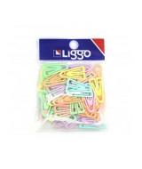 CLIPS PLASTICOS TRIANGULAR BOLSA X 50 PASTEL 525-0500