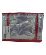 FUNDA PVC P/CUAD.LIGGO 16x21 150mic.ROJO-PAQ.x10-380-0201
