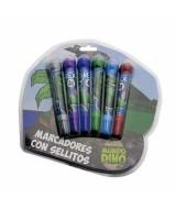 SET BOLW PEN MUNDO DINOS 6 COLORES - DI046