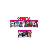 CANOPLA PLANA C/CIERRE MONSTER HIGH 6504
