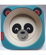 BOWL BAMBOO CUADRADO FISHER PRICE PANDA - B06