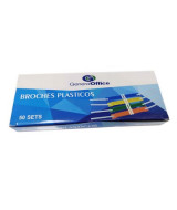 BROCHES PLASTICO GENERAL OFFICE COLOR x50 - 40319