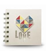 LIBRETA C/ANILLO LOVE BLANCO 10x10cnm - 60hj.