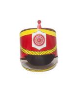 GORRO P/ARMAR REALISTA DE CARTULINA IMPRESA x10un. - 91008