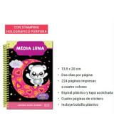 AGENDA 2019 MEDIA LUNA 13x20cm.NEGRA 2DxP.1724