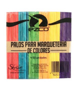 PALITOS P/HELADO DE COLORES EZCO - PAQ.x 50 un.- 402201