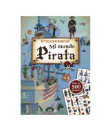 LIBRO STICKERMANIA - MI MUNDO PIRATA