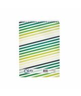 BLOCK ALFA C/ESPIRAL OFICIO CUADRIC. 80hj.-71180