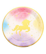 PLATOS DESCARTABLE UNICORNIO F.DEGRADE CHICO BOLSA x10un - 2