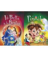 LIBRO CUENTOS MARAVILLOSOS - LA BELLA Y LA BESTIA / PINOCHO