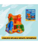 CHALECO INFLABLE INFANTIL ESTAMPADO 45x51cm. - 1033N