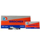 BROCHES EZCO N*10 - CAJAx1000un.- 304001