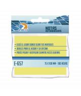 NOTAS AUTOAD.EZCO 75x100mm.(100 hj.AMARILLO) - E-657 980657