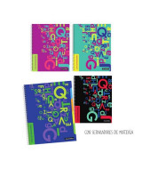 CUADERNO T/EMPLACADA C/SEPARAD.21x27cm.120hj.RAY.- AS360040