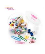 SET ESCRITORIO TRENDY BINDER - CLIPS - SEÑALADOR - 10254