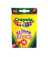 CRAYONES DE COLOR C/GLITTER 9cm.x 16 Un.- Art.52-3716