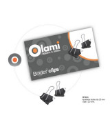 BINDER CLIPS OLAMI NEGRO  25mm.- CAJAx12un.- MT103