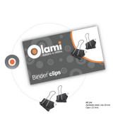 BINDER CLIPS OLAMI NEGRO 19mm.- CAJAx12un.- MT104