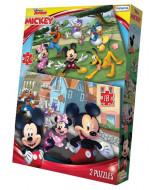 JUEGO DE MESA PUZZLE DISNEY MICKEY  x2 16x20cm. DCH07689